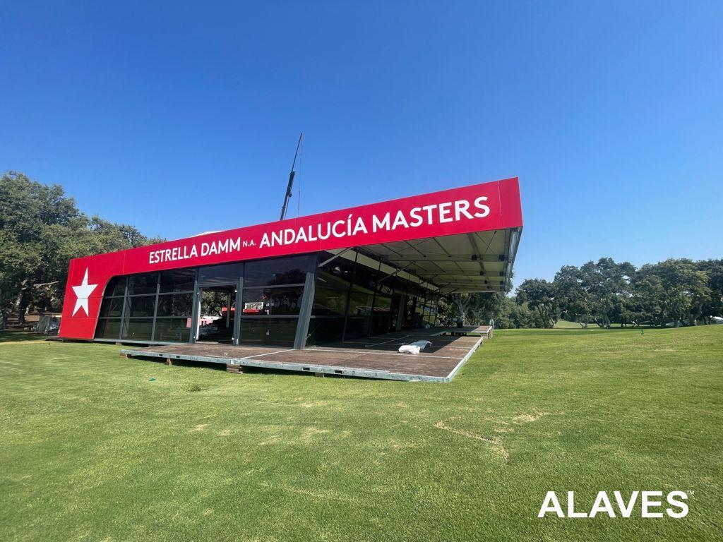 Alaves HTT Carpa Instalada en el Real Club Valderrama Sotogrande, Cádiz