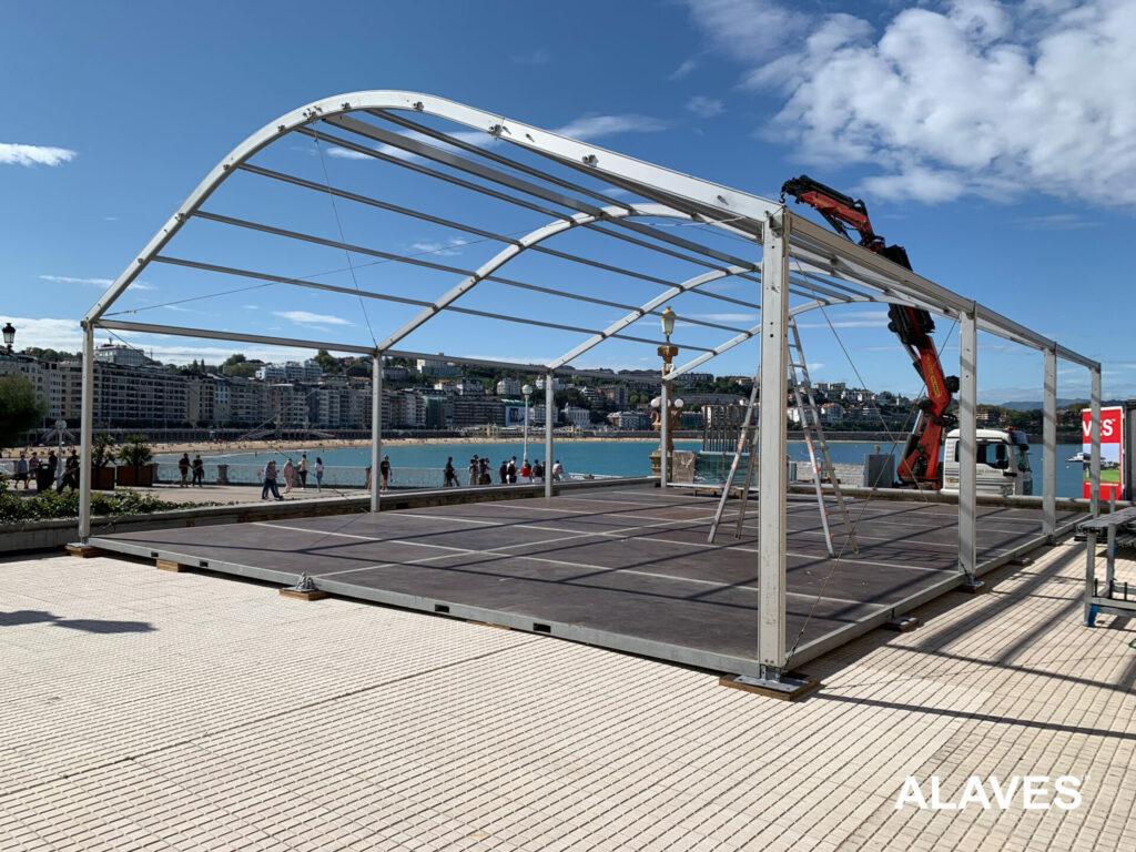 Alaves HTT Carpa 10x15m Instalada en san Sebastián para RTVE (Festival de cine)