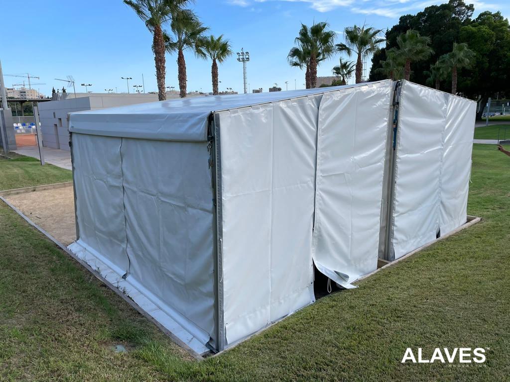 Alaves HTT Carpa /Marquesina de 5x3m Instalada en Club Atlético Montemar - Alicante