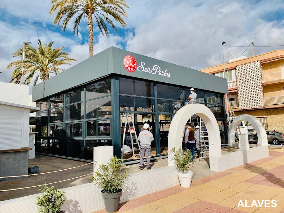 Carpa - estructura 10x10m restaurante seis perlas-ALAVES (1)