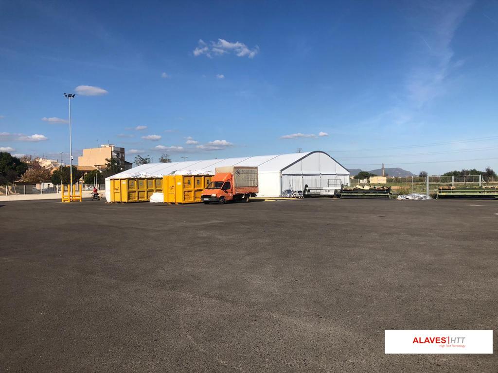 Carpa industrial de 20x35m-Vinalesa-Valencia-ALAVES HTT60