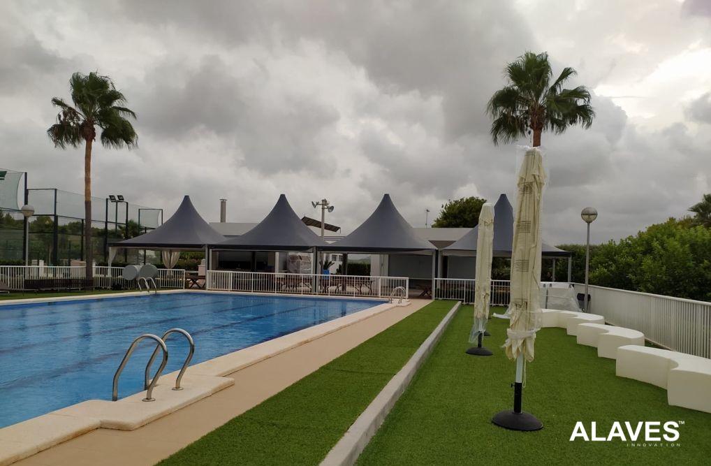 Alaves HTT Jaimas de 6x6m con doble techo Instaladas en Jacarilla - Alicante