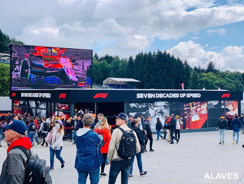Alaves HTT Carpas Instaladas en el circuito de Gran Premio de Formula 1 de Belgica